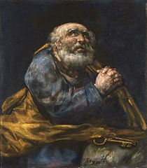 The Repentant St. Peter (Goya)