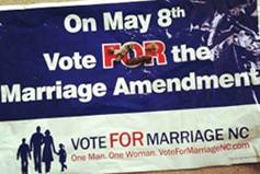 Vote for Marriage Sign
